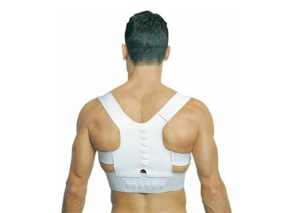 Корректор осанки магнитный Magnetic Posture Support Белый