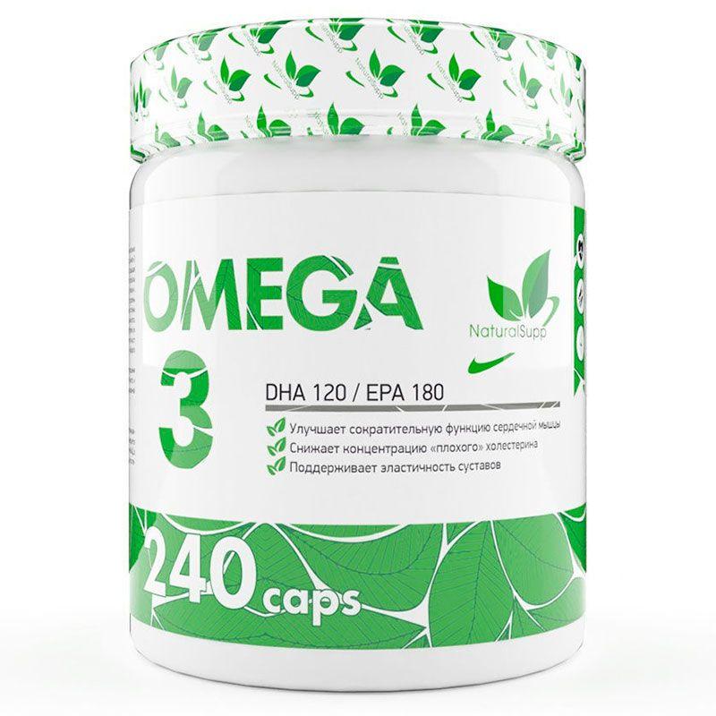 Купить Омега 3 рыбий жир NATURALSUPP Omega 3 30% 1000 мг капсулы 240 шт.