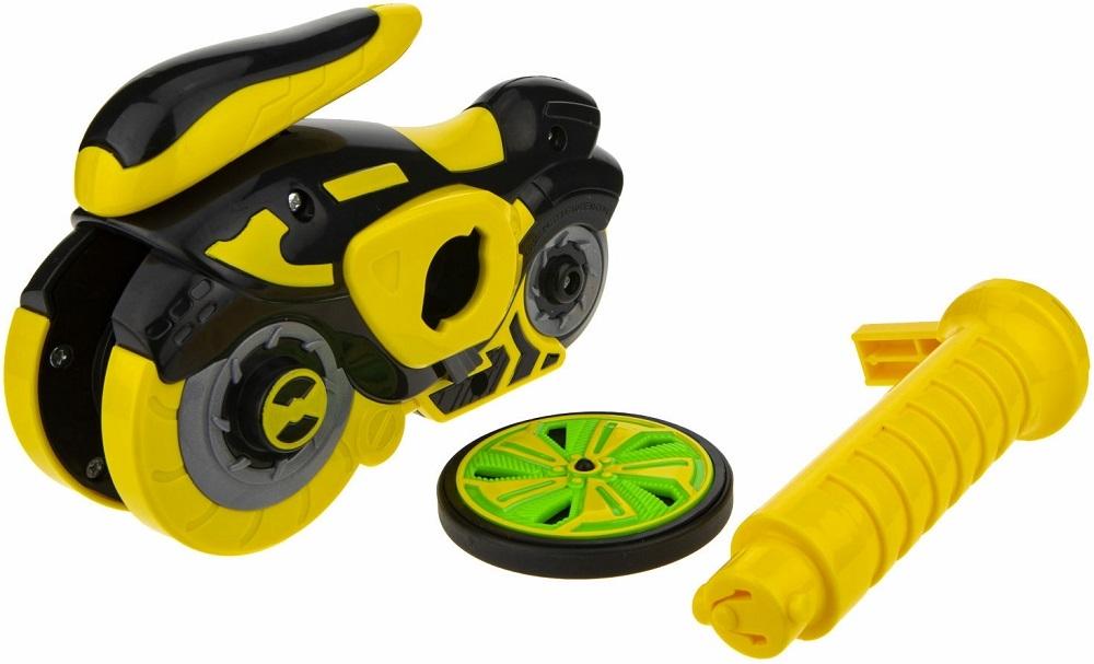 Мотоцикл с диском 1Toy Spin Racer Hot Wheels Желтый Призрак 1 TOY