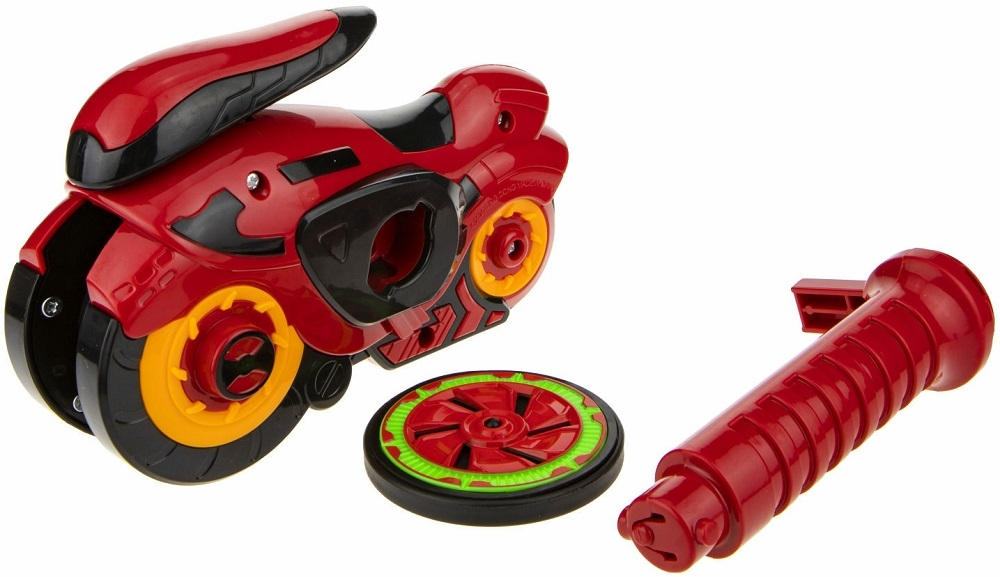 Мотоцикл с пусковым диском 1Toy Spin Racer Hot Wheels Красный Мустанг 1 TOY