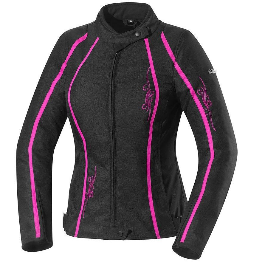 Куртка текстильная женская IXS KAYLA Black/red DM