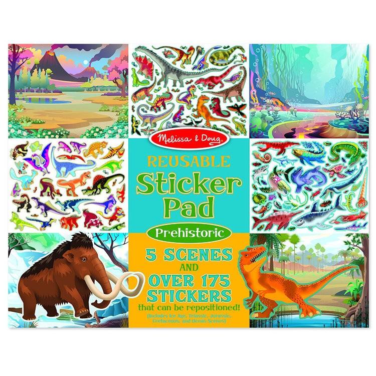 Наклейки Виниловые Многоразовые Животные 175 наклеек, 5 Сюжетов Melissa & Doug