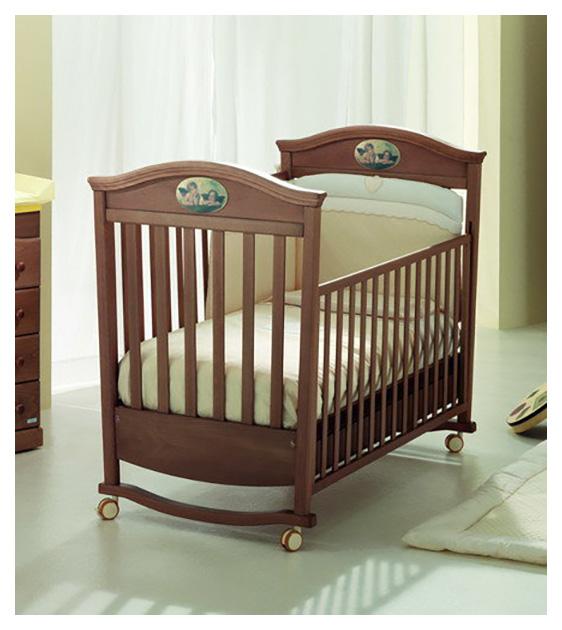 Купить Кровать детская MIBBА 019L Raffaello 827247 темно-коричневый/металл,