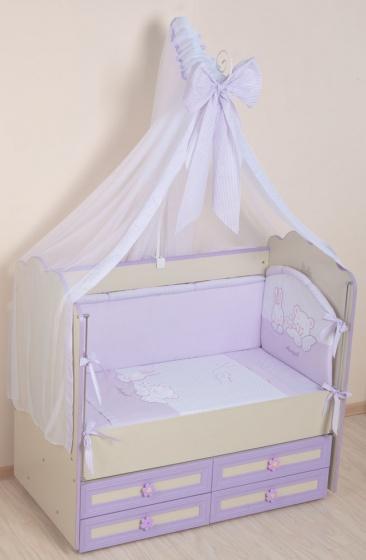 Купить Комплект в кроватку Селена Греческий С 50А фиолетовый,