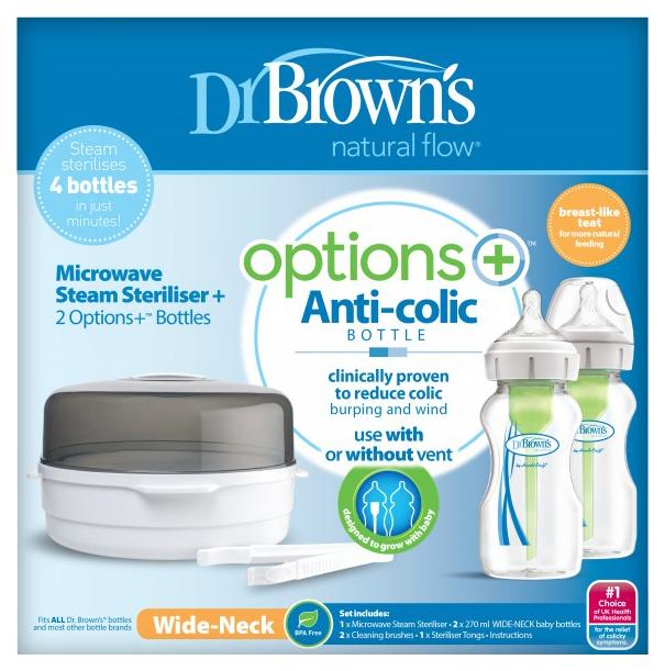 Купить Набор для паровой стерилизации Dr. Brown's Контейнер, бутылочки с широким горлышком, Dr. Brown's,