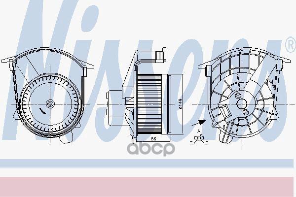 Вентилятор Отопителя Nissens 87262