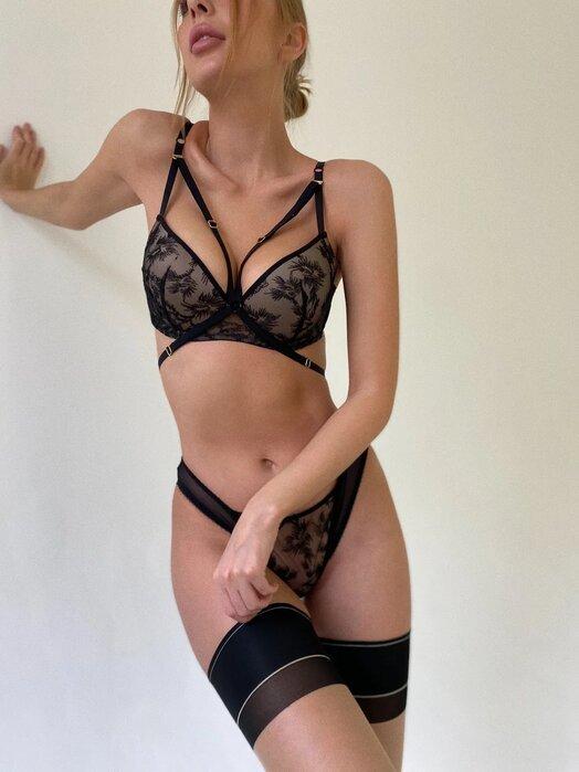 Комплект белья женский Seduction Camellia черный 85B