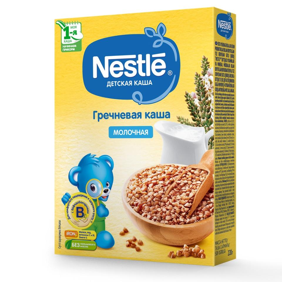 Каша молочная Nestle Гречневая с 4 мес. 220 г