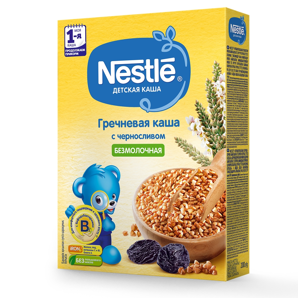 Каша безмолочная Nestle Гречневая с черносливом с 4 мес. 200 г