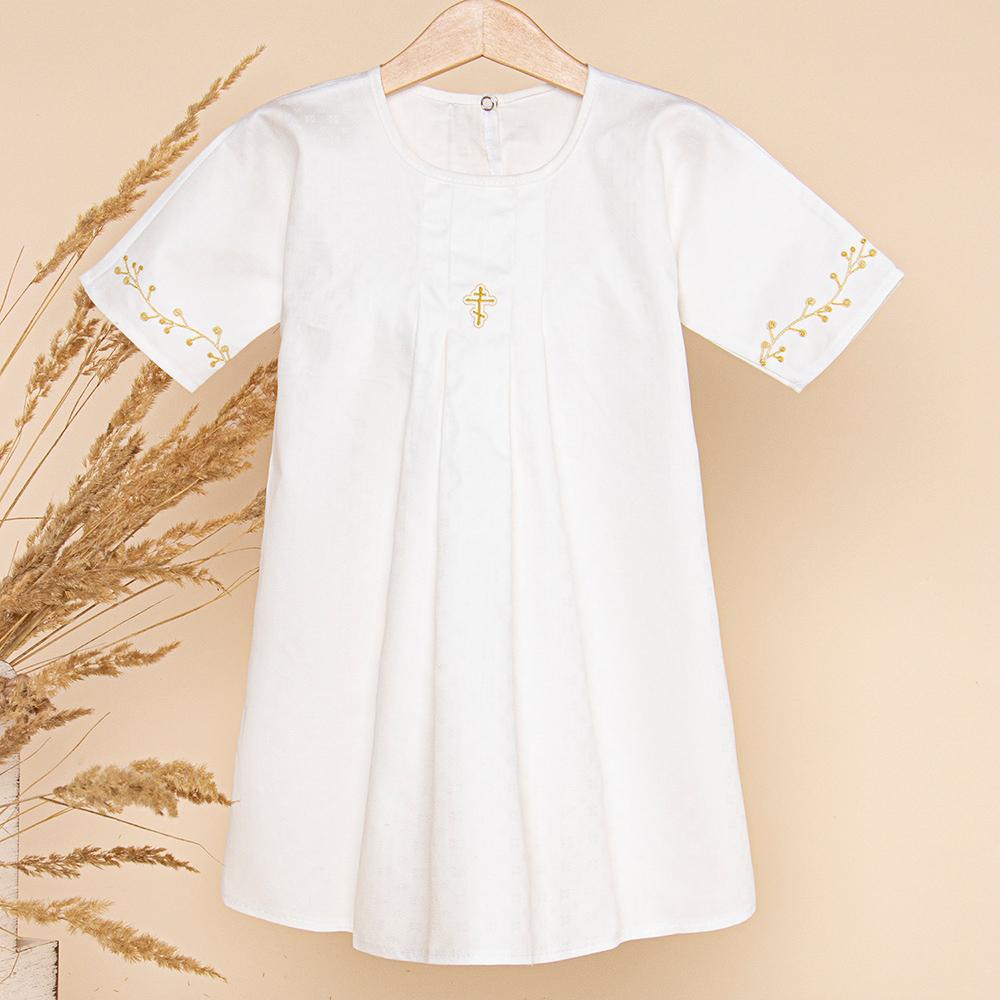 Крестильная рубашка Золотой Гусь размер 68