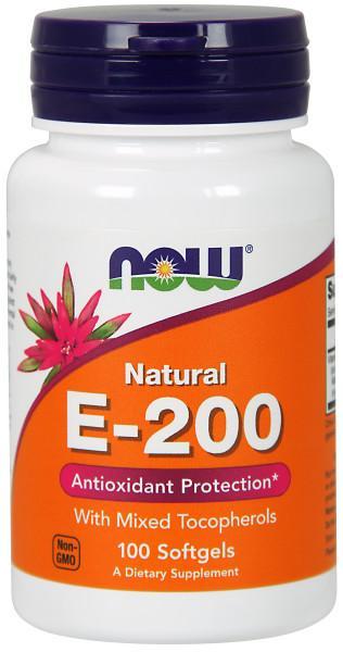 Витамин E NOW Sports E 200 Mixed