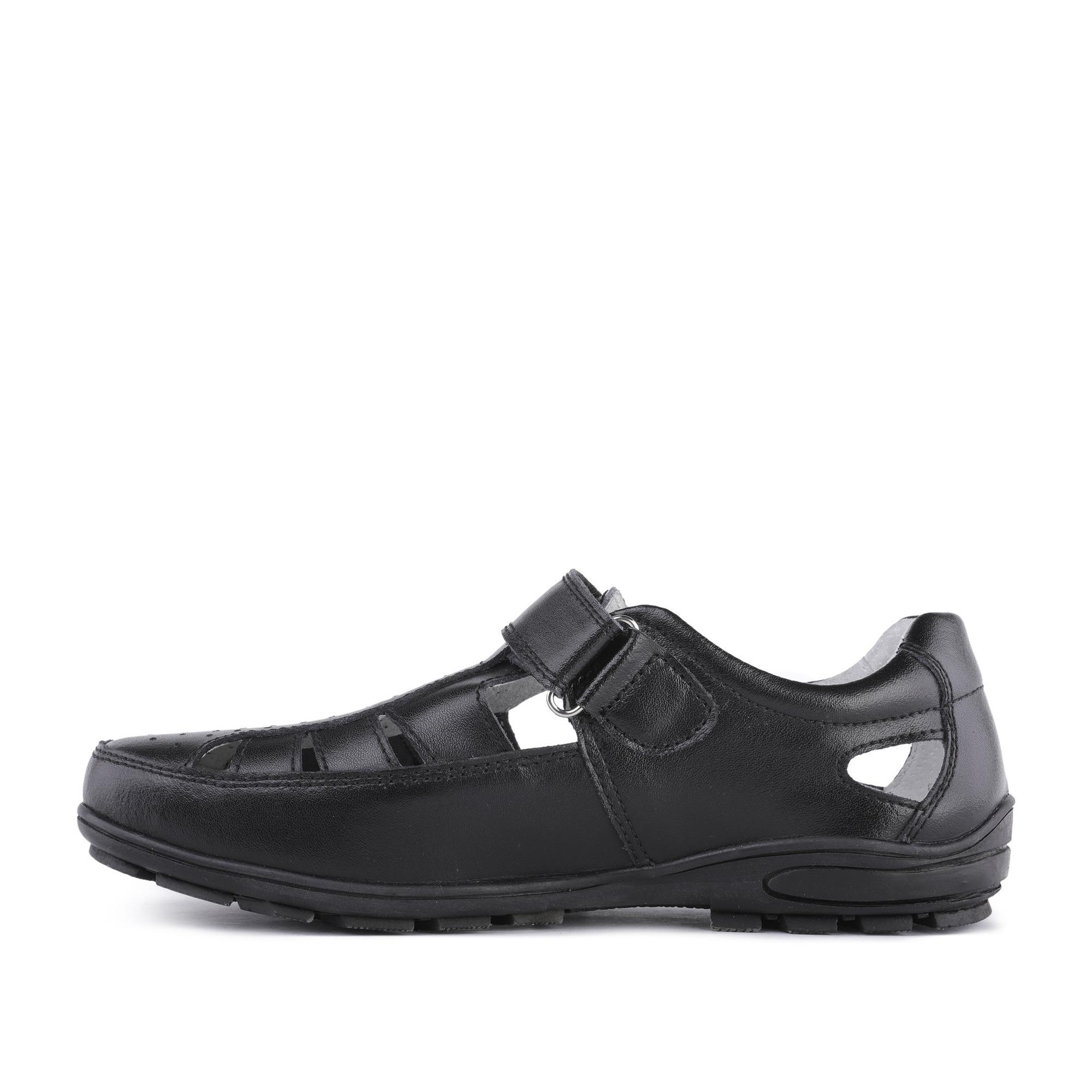 40-01BO-001VK, Туфли для мальчиков ZENDEN, цв. черный, р-р 35,  - купить со скидкой