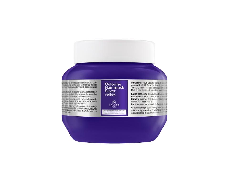 Купить Маска для волос KALLOS Cosmetics с антижелтым эффектом 275 мл, KALLOS Cosmetics SILVER