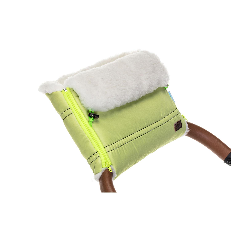 Купить Муфта меховая для коляски Nuovita Alpino Bianco Verde chiaro, Салатовый,