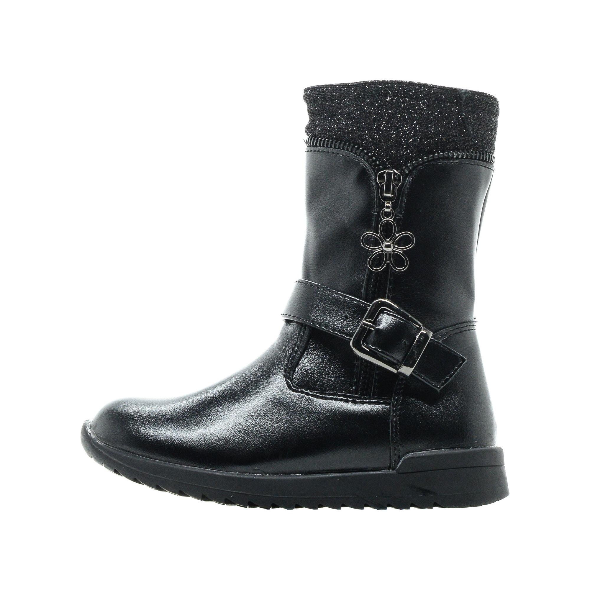 Купить 215-92GO-014SR, Сапоги для девочек ZENDEN, цв. черный, р-р 32,