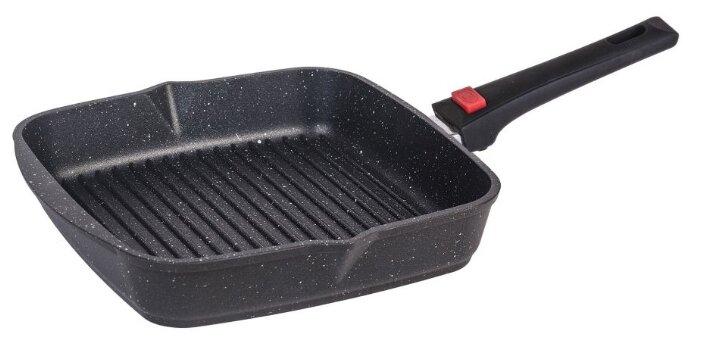 Сковорода-гриль+съемная ручка Мечта Гранит Black 24х24см