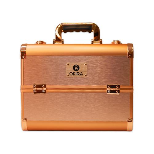 Бьюти кейс для косметики Okira CWB 6350 розовое золото