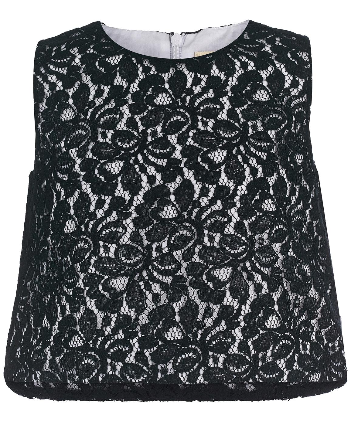 Блузка для девочек Button Blue, цв. черный, р-р 140 фото