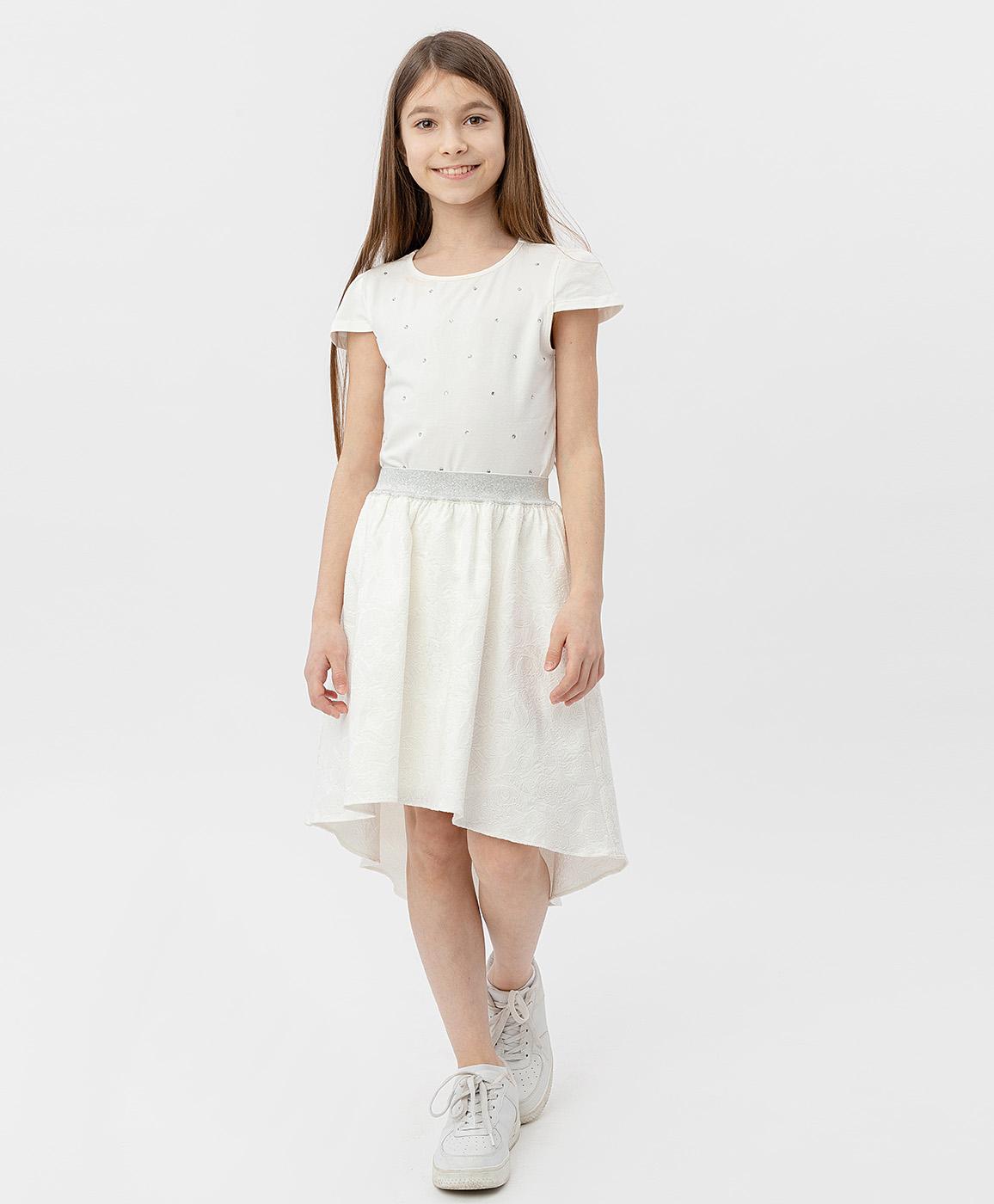 Купить 120BBGP61010200, Юбка для девочек Button Blue, цв. белый, р-р 146,