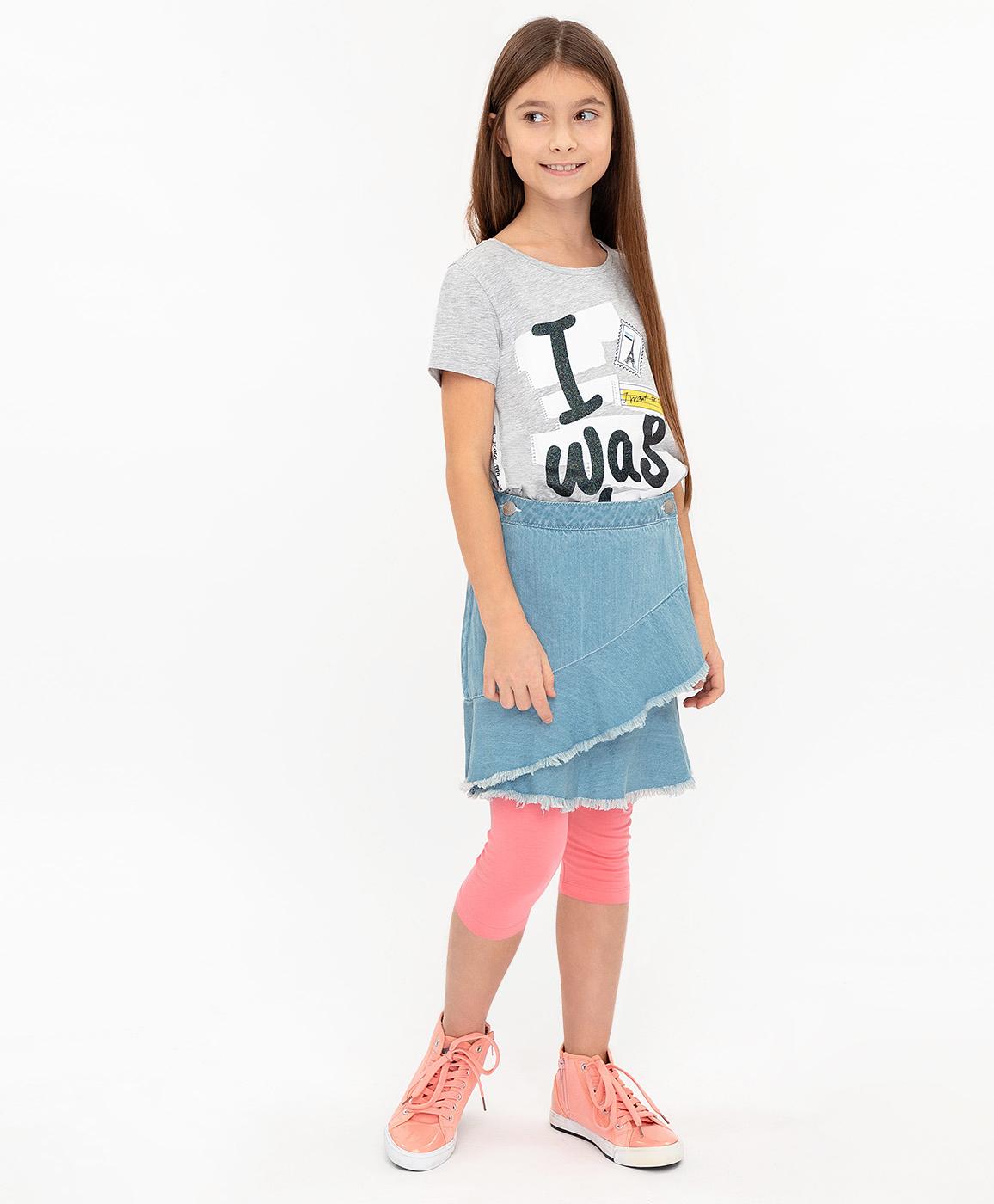 Купить 120BBGC6103D200, Юбка для девочек Button Blue, цв. голубой, р-р 104,