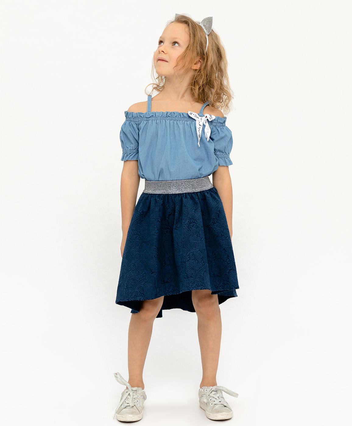 Купить 120BBGP61011000, Юбка для девочек Button Blue, цв. синий, р-р 98,