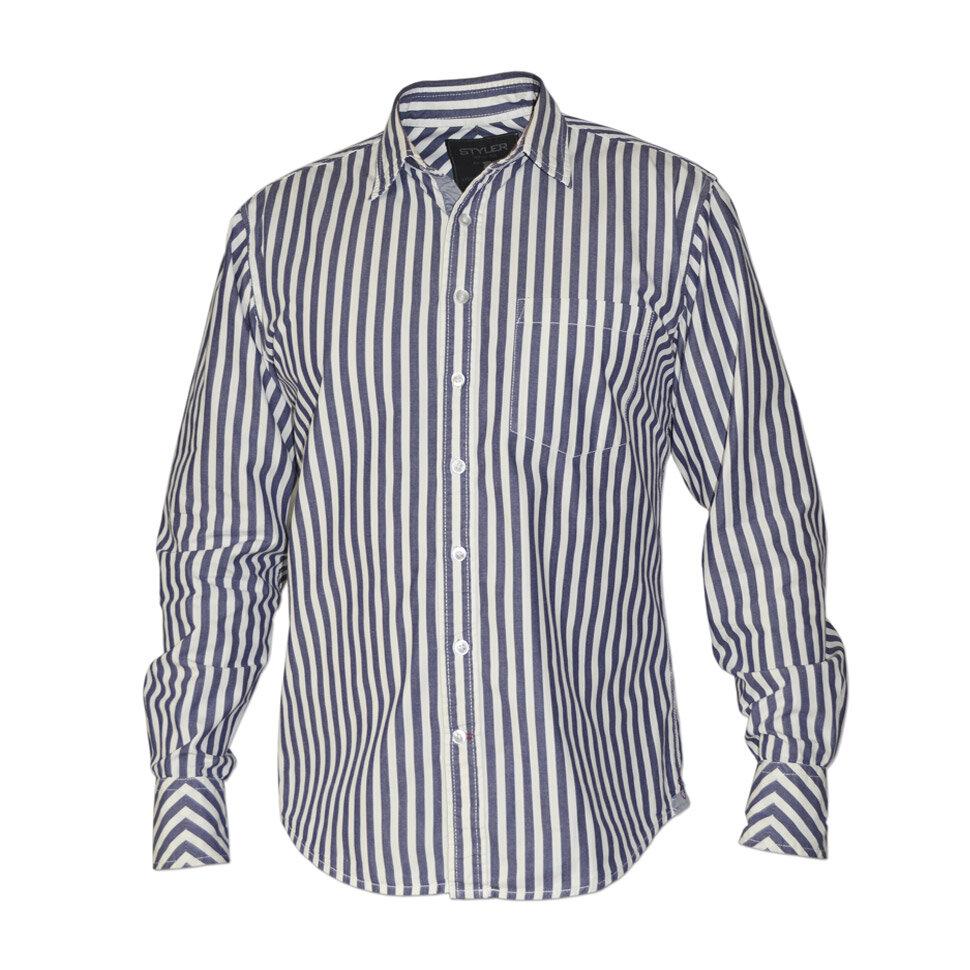 Рубашка мужская Styler 21-085 разноцветная XL