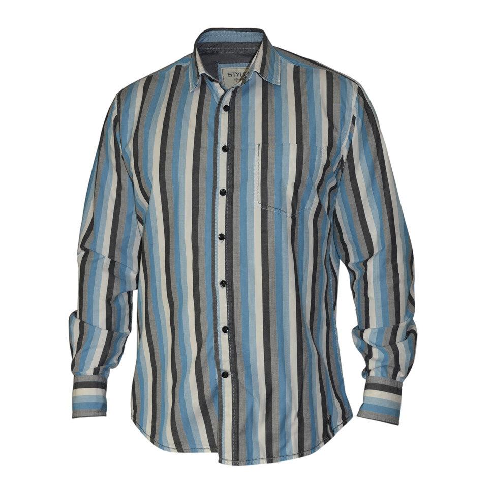 Рубашка мужская Styler 21-079 разноцветная XL