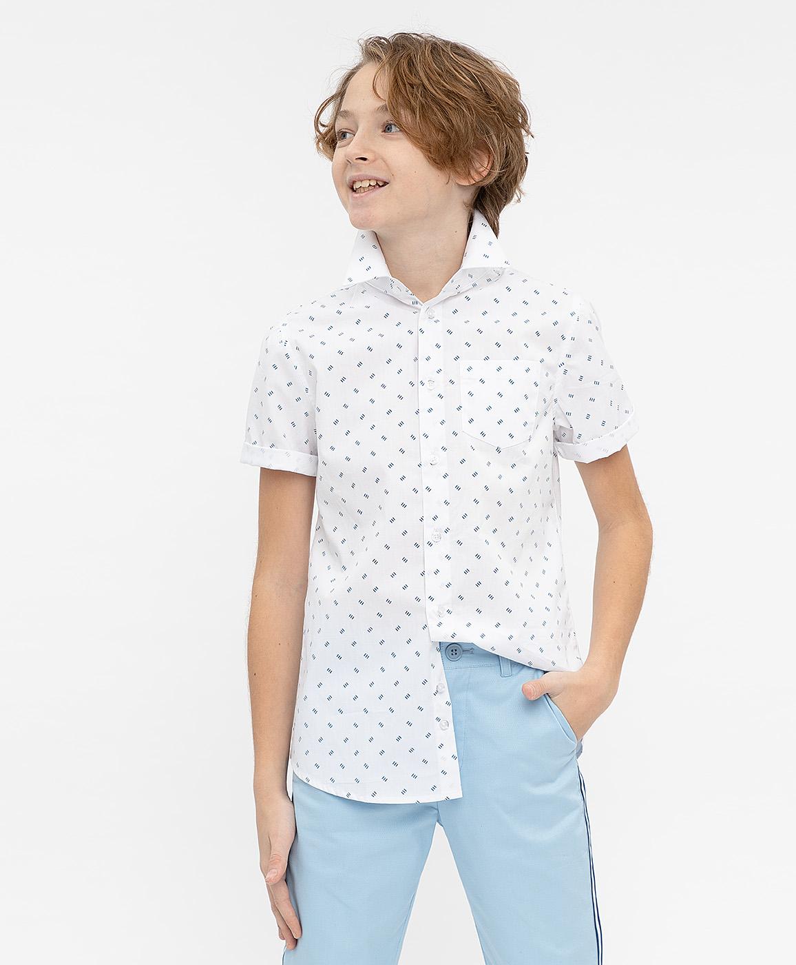 Купить 120BBBP23040213, Рубашка для мальчиков Button Blue, цв. белый, р-р 104,