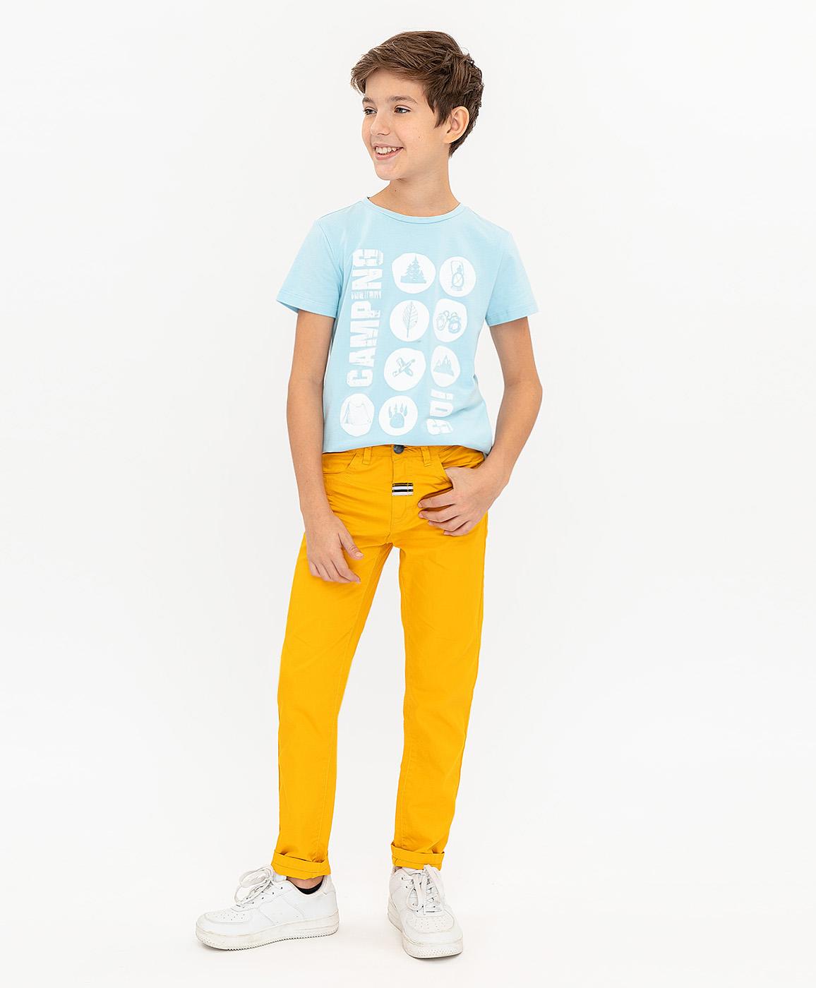 Брюки для мальчиков Button Blue, цв. желтый,