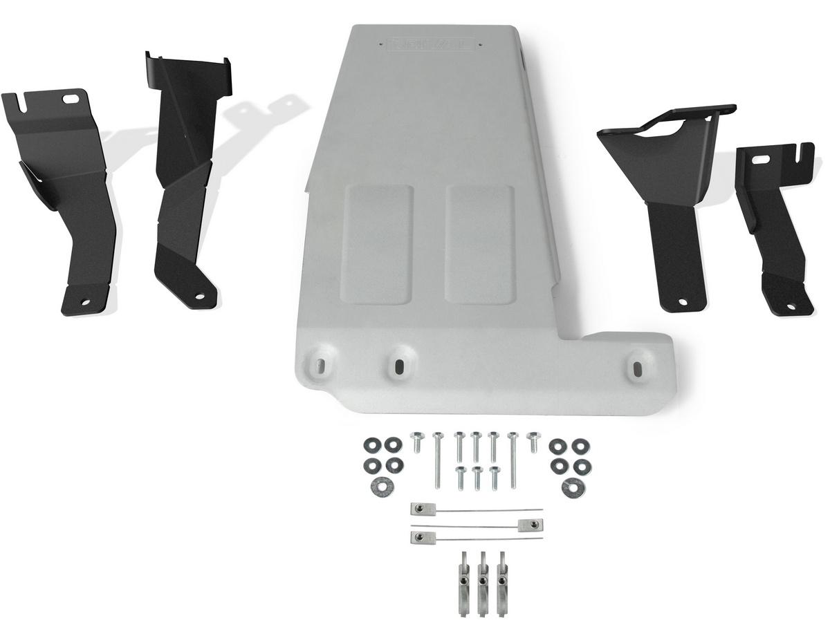 Защита картера Rival Jeep Wrangler JL , штампованная, алюминий 4 мм, 333.2744.1