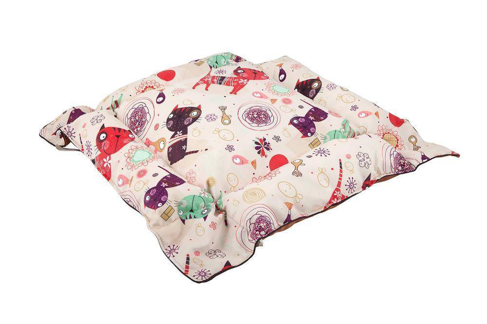 Лежак для кошек и собак TiTBiT, трансформер квадратный, зеленый, 70х70 см