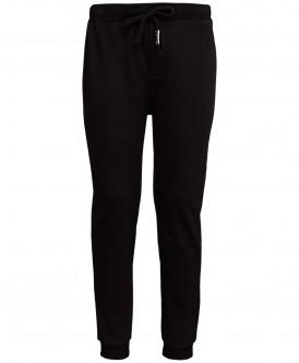 Купить 219BBUS56010800, Спортивные брюки унисекс Button Blue, цв. черный, р-р 140, Брюки для девочек