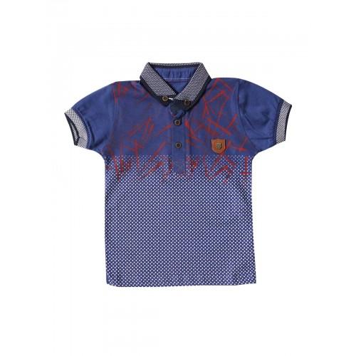 Футболка-поло для мальчиков Petitox, цв. индиго, р-р 92