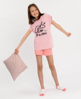 Купить 120BBGU97021205, Пижама детская Button Blue, цв. розовый р.98,
