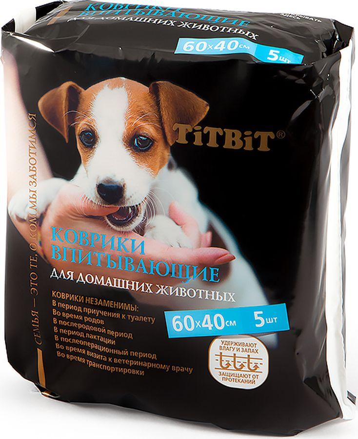 Коврики для ухода за домашними животными TiTBiT впитывающие, 60х40 см, 30 шт фото