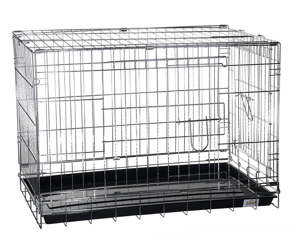 Клетка для собак KREDO, крашеная, 2 двери,