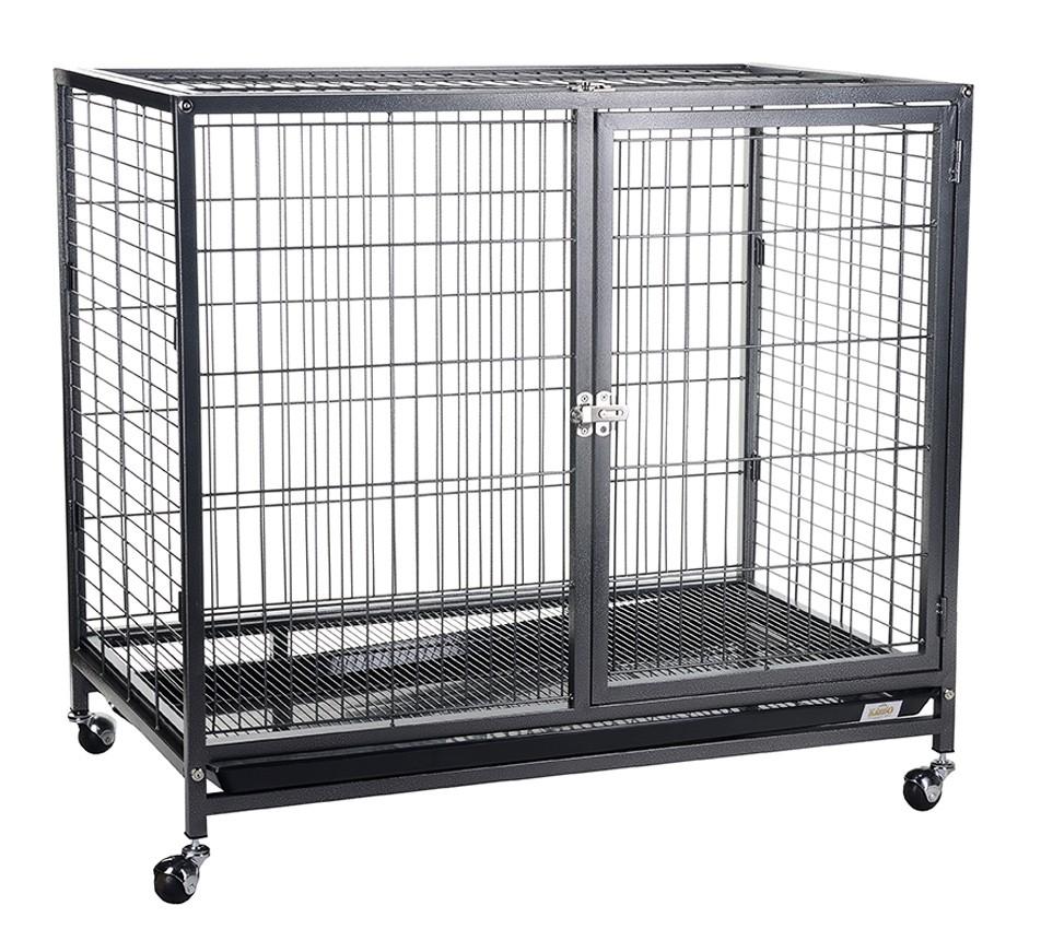 Клетка для собак KREDO на колесах, черная,