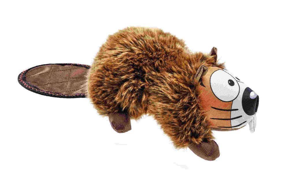 Игрушка пищалка для собак HUNTER Бобер, текстиль,