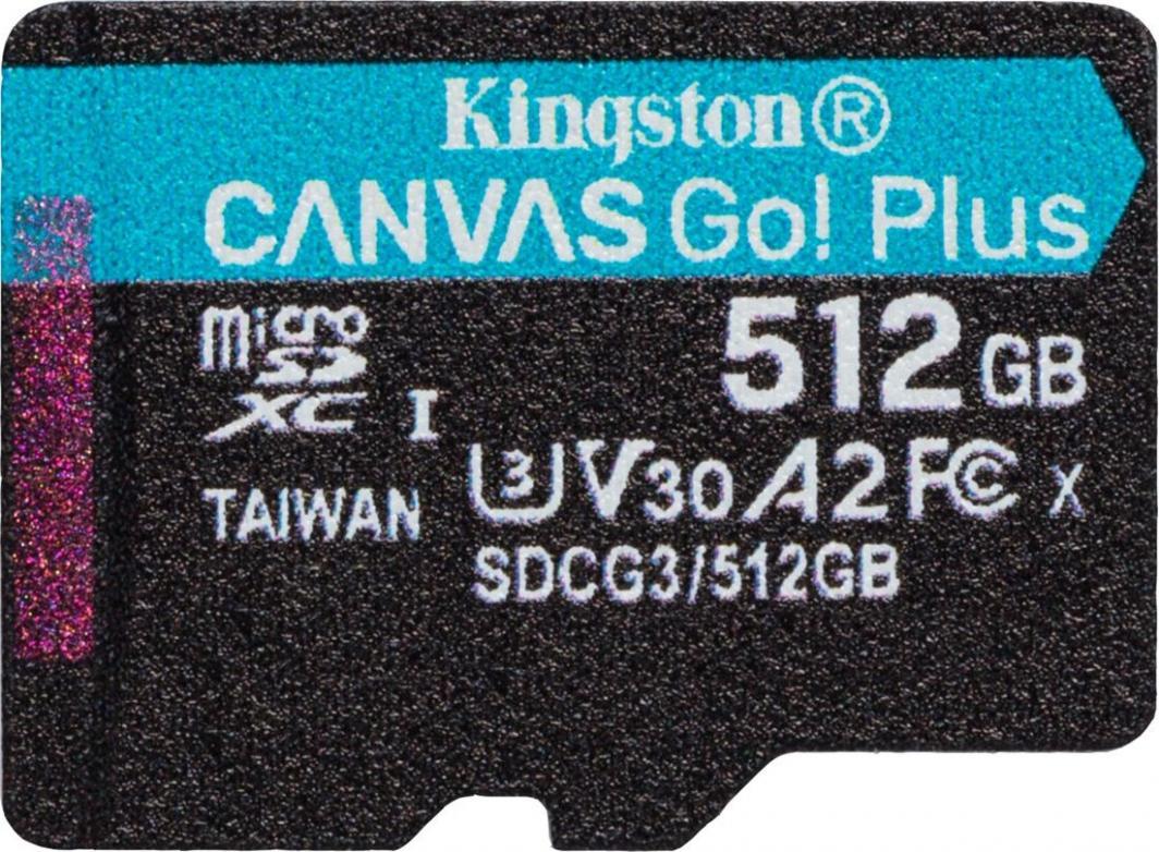 Карта памяти Kingston 512GB Canvas Go! Plus
