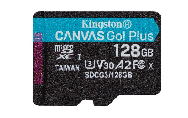 Карта памяти Kingston 128GB Canvas Go! Plus