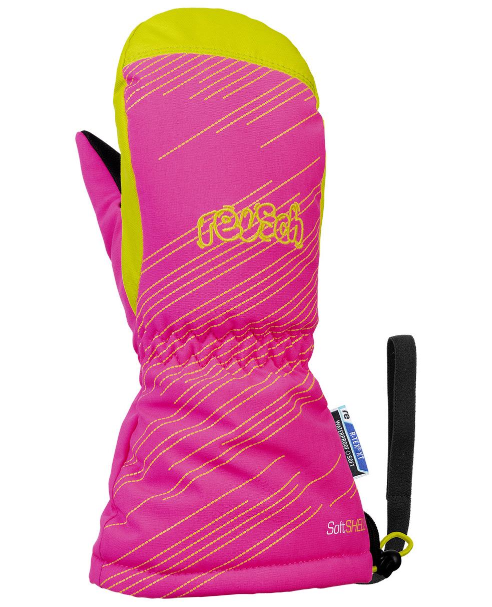 Варежки Reusch 2020-21 Maxi R-Tex® Xt Mitten Knockout Pink/Lime (Inch (Дюйм):V)