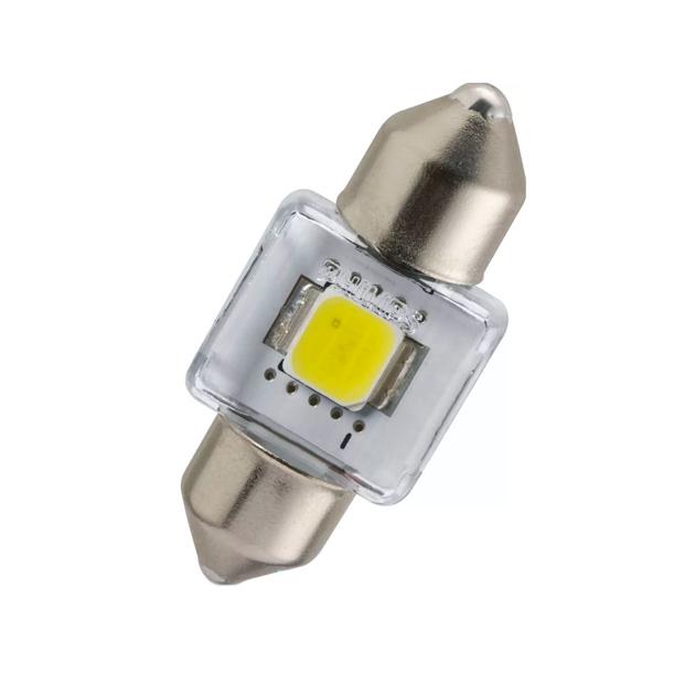 Лампа светодиодная 12V T14x30 LED 1W 6000K