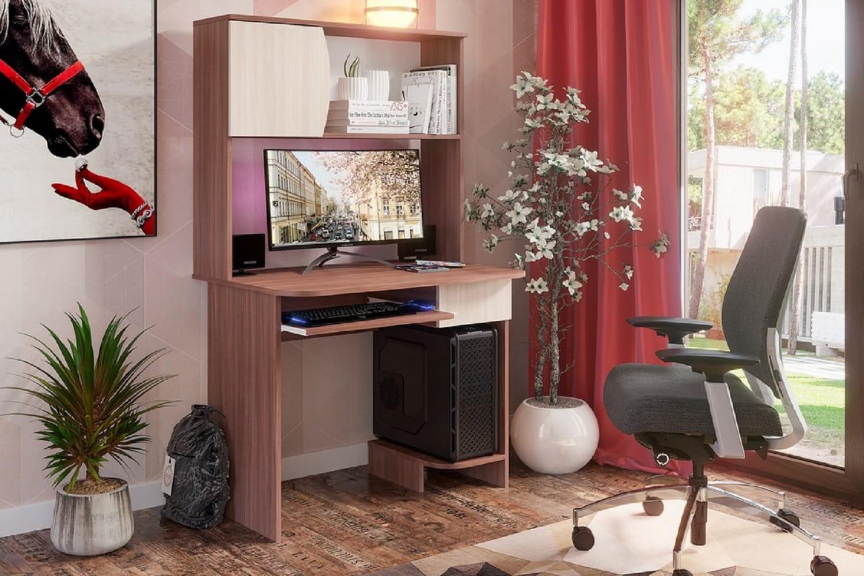 Компьютерный стол Стендмебель СТНДМ.119033, венге/дуб белфорт