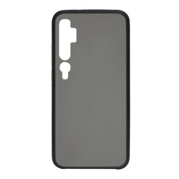 Чехол матовый с пластиковой спиной BMCASE для Xiaomi Mi Note 10 Pro (Black)