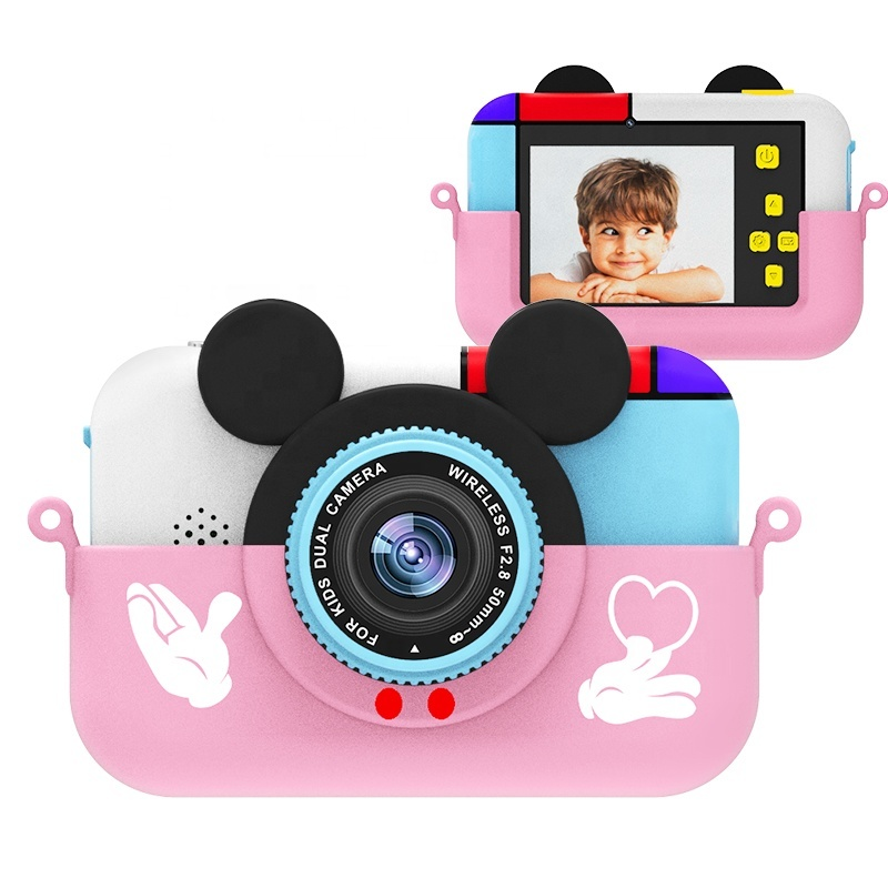 Купить Детский фотоаппарат Микки Розовый, SmileZoom,