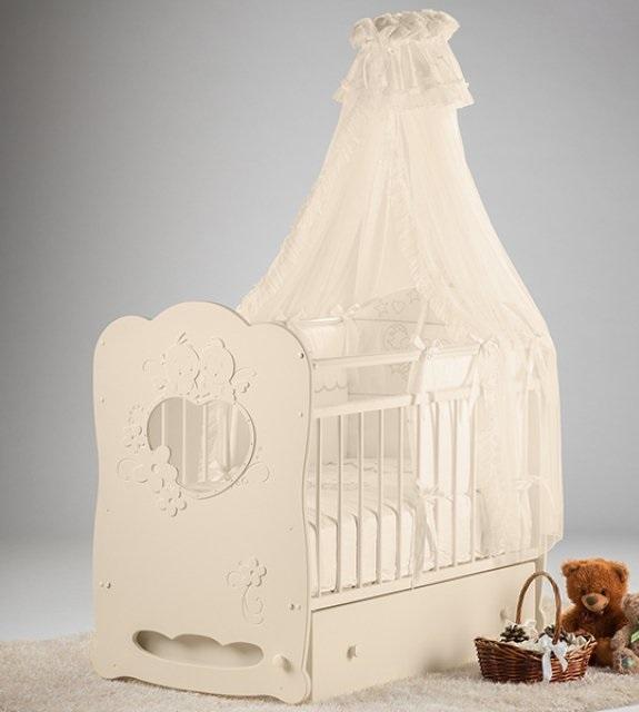 Кроватка детская Островок уюта Птенчики, слоновая кость Птенчики по цене 7 920