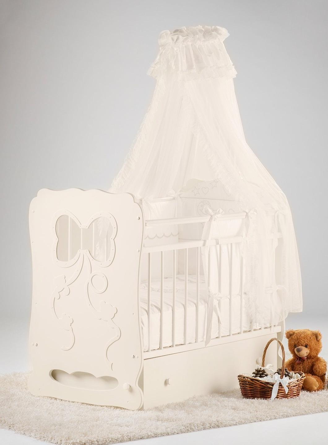 Кроватка детская Островок уюта Мальвина, слоновая кость Мальвина по цене 7 920