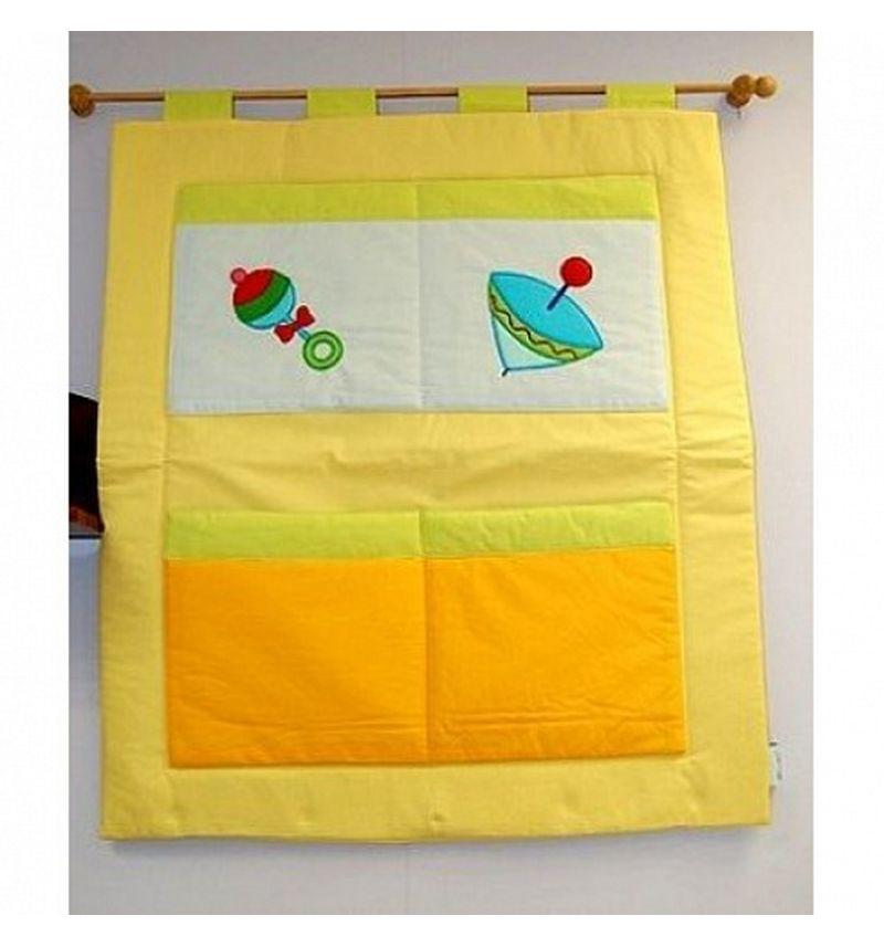 Купить Декоративное панно Feretti Puppet с кармашками, желтый,
