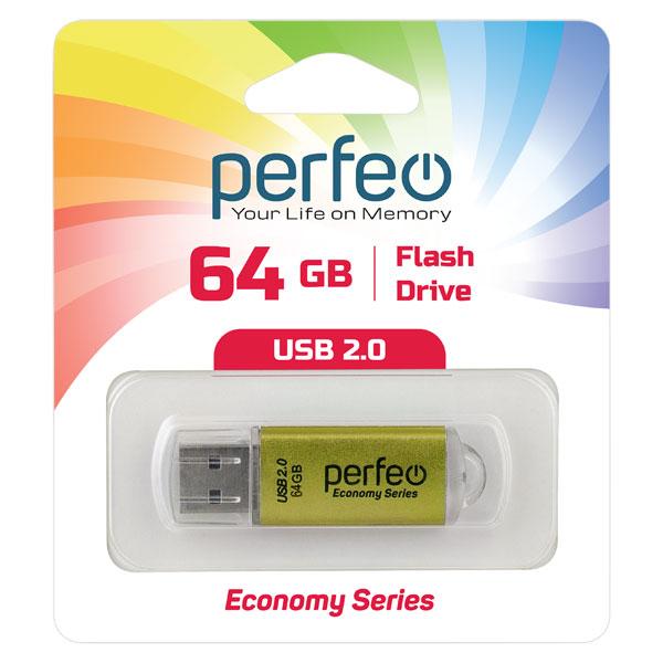 USB-флешка Perfeo USB 64GB E01 Gold economy series