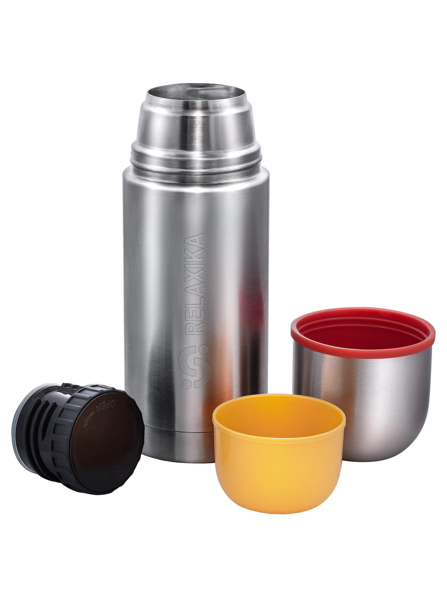 Термос Relaxika 102 (0,5 литра), 2 чашки, стальной